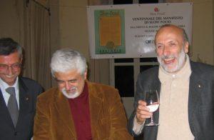 20 anni SlowFood con Carlo Pedrini, Sergio Miravalle e Mauro Gaudio. Foto Katrin Walter