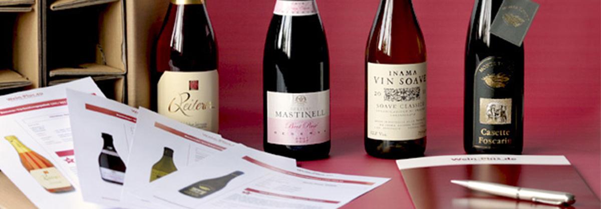 il pacco degustazione di Wein-Plus contiene in media tra 3 e 4 vini