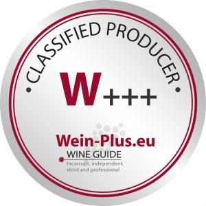 W+++ sigla di classificazione della guida dei vini Wein-Plus per il lavoro globale delle cantine