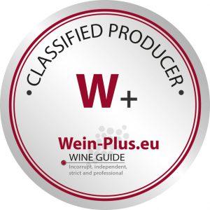 W+ sigla di classificazione della guida dei vini Wein-Plus per il lavoro globale delle cantine