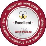 Esempio di una medaglia del vino di Wein-Plus per un vino bianco eccellente