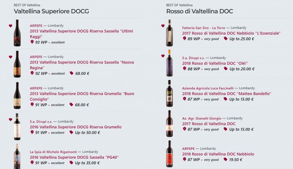 Best of Valtellina - Valtellina Superiore DOCG - wein.plus degustazioni vini