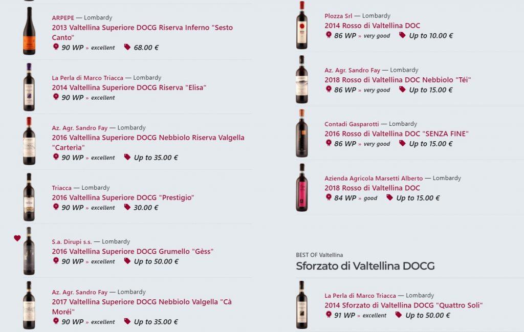 Best of Valtellina - Sforzato di Valtellina DOCG - wein.plus recensioni del vino