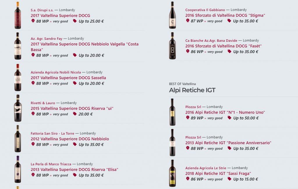 Best of Valtellina - degustazioni dei vini da Valtellina Superiore DOCG a quelli delle Alpi Retiche IGT - wein.plus