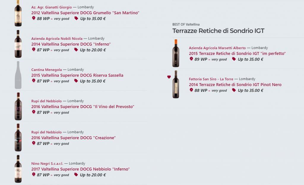 Best of Valtellina - Valtellina Superiore DOCG fino Terrazze Retiche di Sondrio IFT - recensioni di wein.plus piattaforma del vino