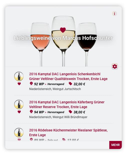 """La nuova rubrica dei """"vini preferiti"""" nella guida dei vini Wein-Plus"""