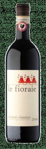 Bottiglia Chianti Classico Le Fioraie. Foto: Cantina Piemaggio in Castellina per Wein-Plus articolo pacco degustazione Natale 2018
