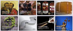 gli oltre 25000 voci nel più ampio Lexicon del vino di wein.plus ono raggruppati per temi
