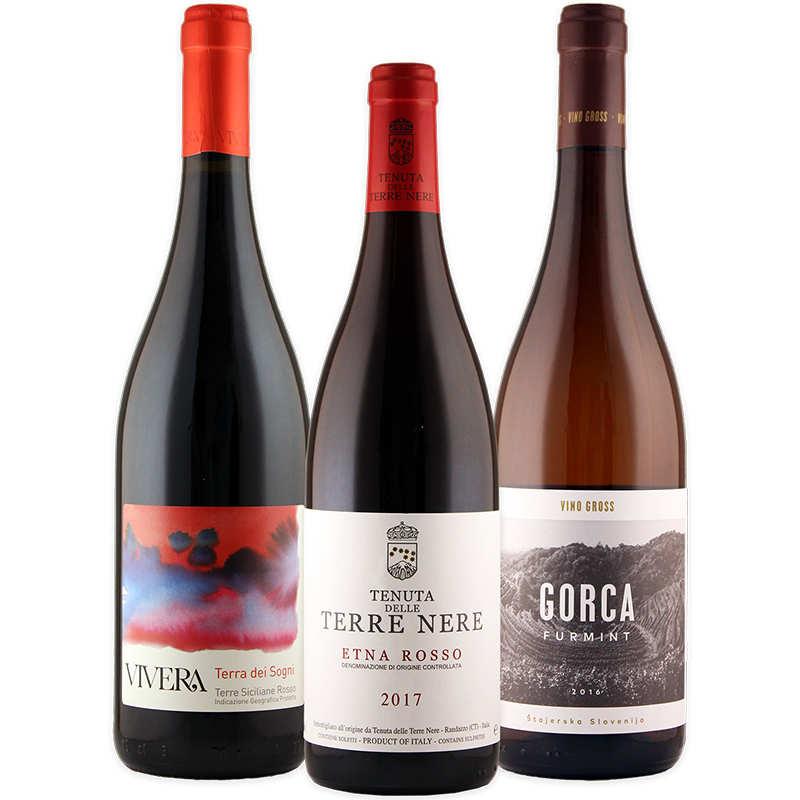 Le tre bottiglie del pacco degustazione autunno 2019 di Wein-Plus