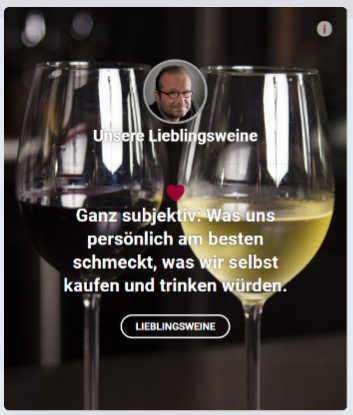 La nuova rubrica dei vini preferiti nel network e nella guida dei vini Wein-Plus