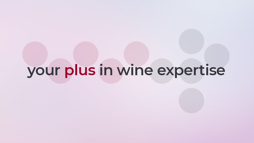 lo slogan di wein.plus - your plus in wine expertise e il suo manifesto